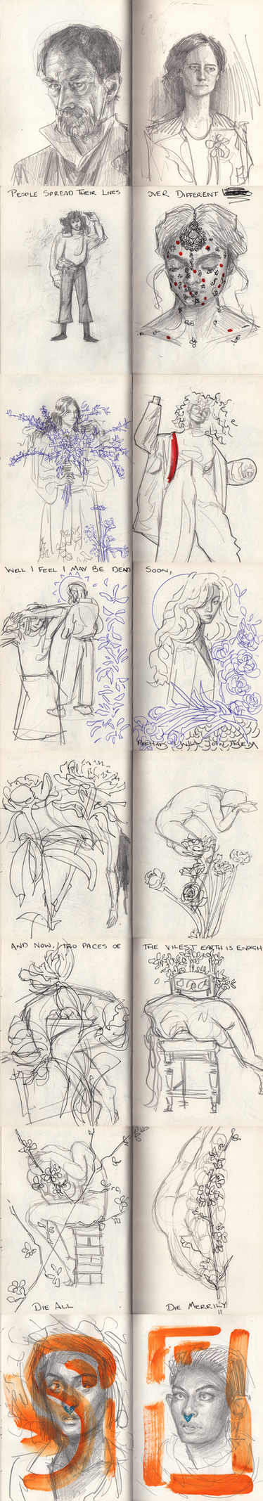 May Sketches Part i by lou2209