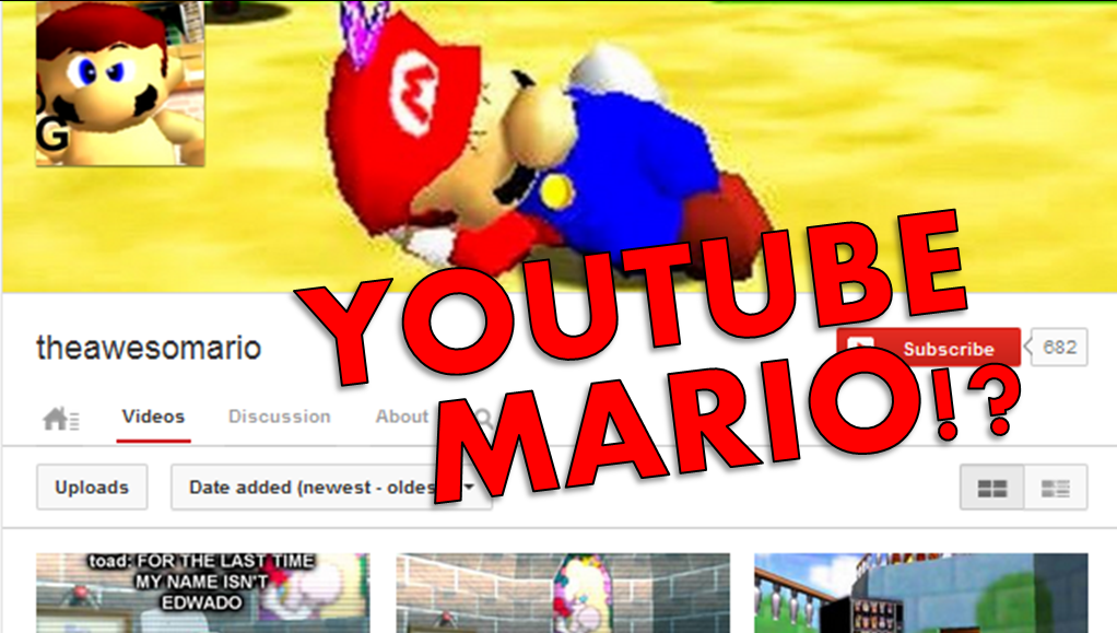 youtube mario title card sm64 bloopers by starrion20 on deviantart