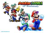 Mario and Luigi 10th Anniversary Wallpaper