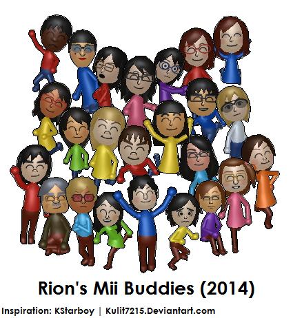 Rion's Mii Buddies (2014) by Kulit7215