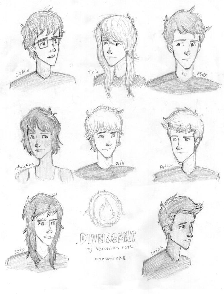 Divergent Fan Art Deviantart Characters of Divergent by