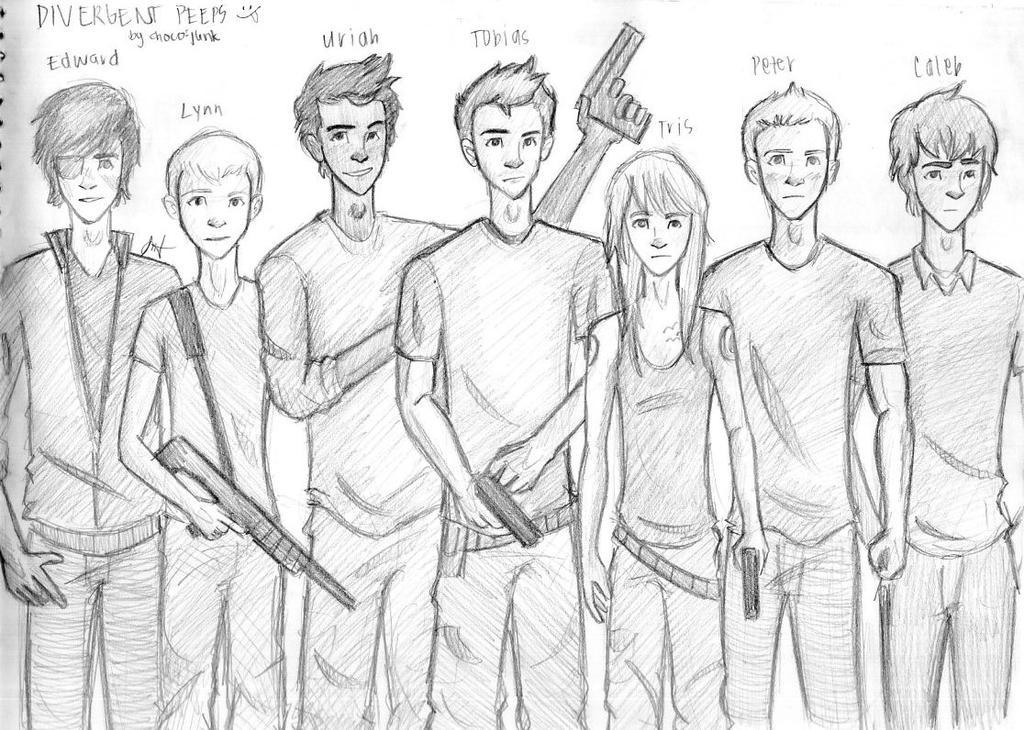 Divergent Fan Art Deviantart Divergent Peeps by choco-junk