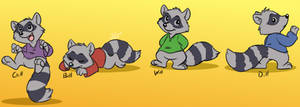 Robin Hood raccoon doodles by Scorpio-Gustavo