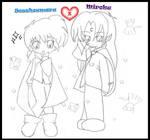 Sessy y Miroku vampiros by Mitzume-Naye