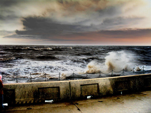 Cleveleys sea front HDR.