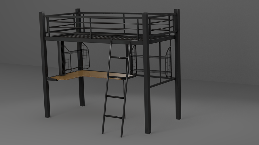 Desk With Bunk Bed  By Johnnydwicked On Deviantart