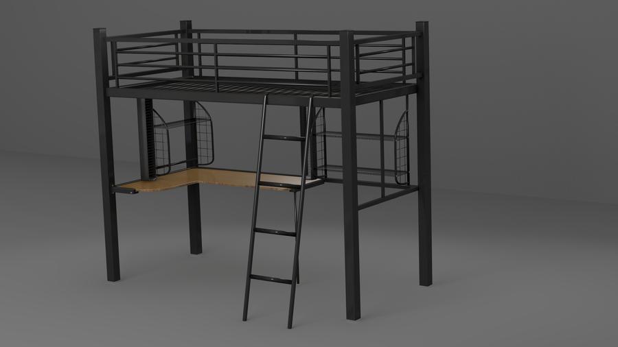 Bunk Bed Desk Below