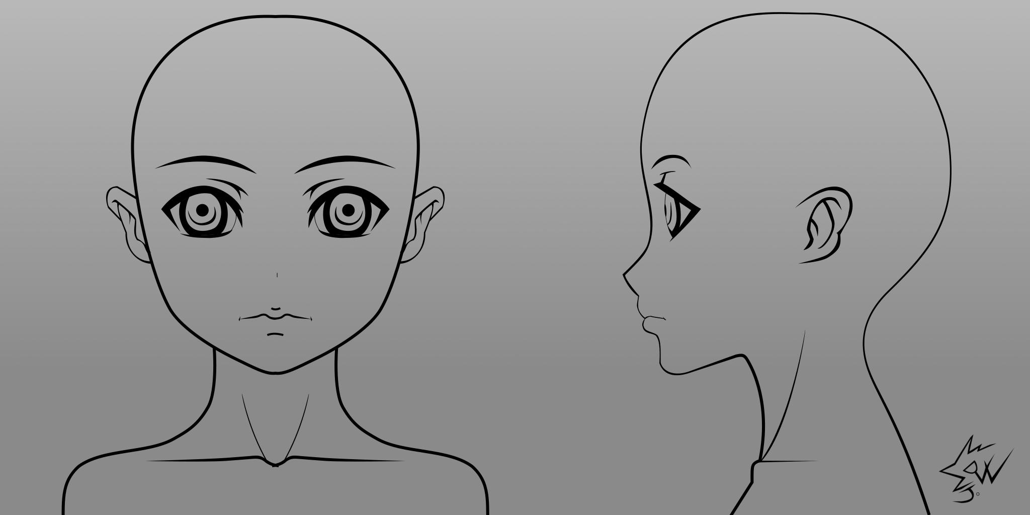 Anime Girl Head Model Sheet 9 by johnnydwicked on DeviantArt