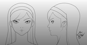 Maya Kumashiro Head Model Sheet