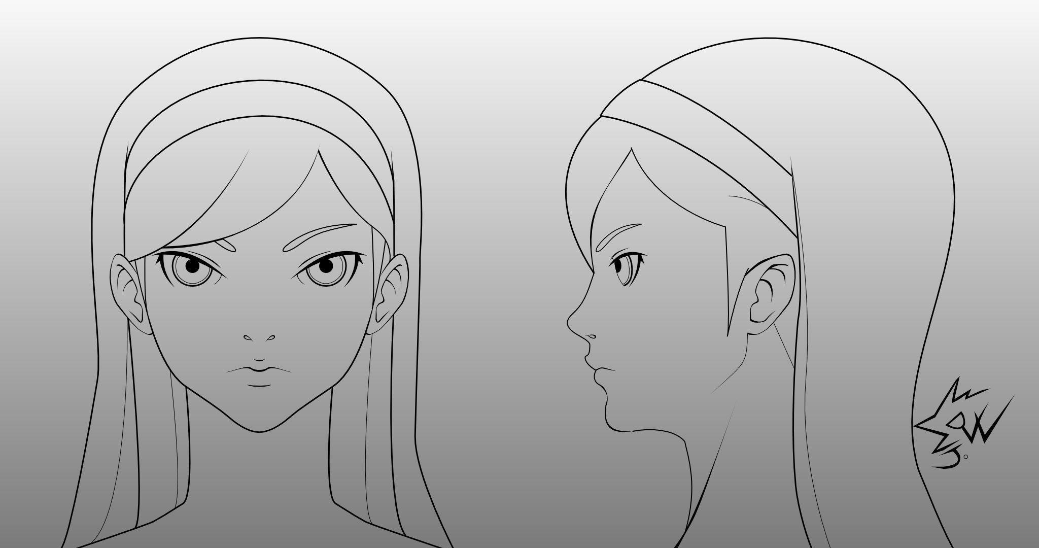 manga character template - maya kumashiro head model sheet by johnnydwicked on deviantart