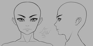 Anime Boy Head Model Sheet 01