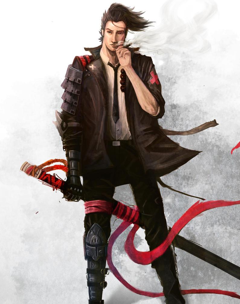 Random Modern Samurai / Detective by Yi-Kai on DeviantArt