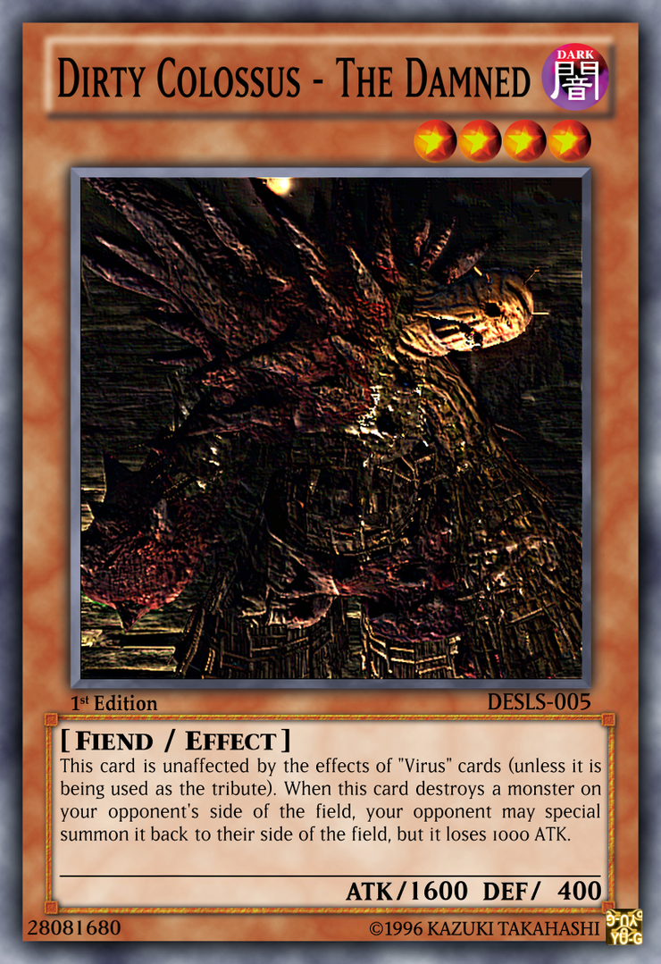 dirty colossus yu gi oh card by maikerushinigami on deviantart