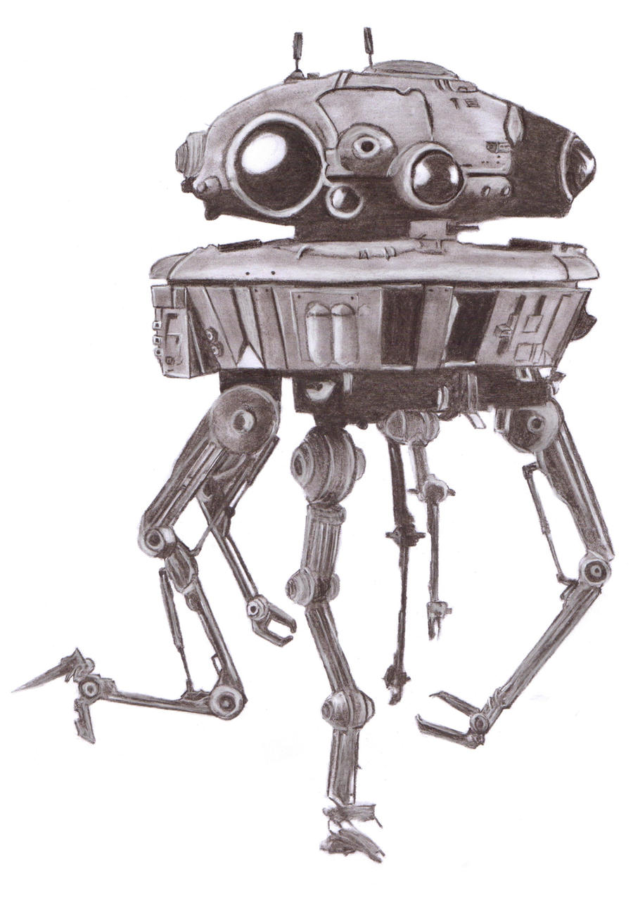 Imperial Probe Droid by Slayerlane