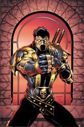Mortal Kombat: Scorpion by BlondTheColorist
