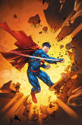 Superman 13 cover by BlondTheColorist