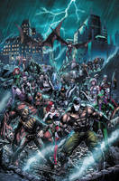 Forever Evil: Arkham War 1 cover by BlondTheColorist