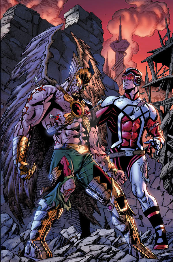 Death of Hawkman 1, p2 by BlondTheColorist