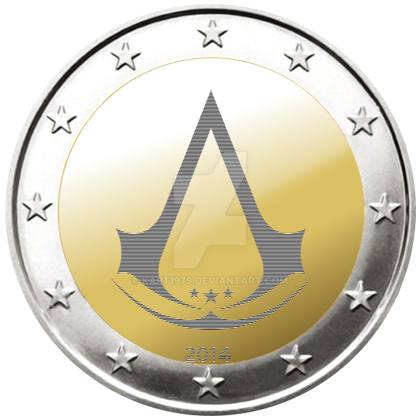 Assassin's Creed - Muenze - 2 Euro by KArt1979