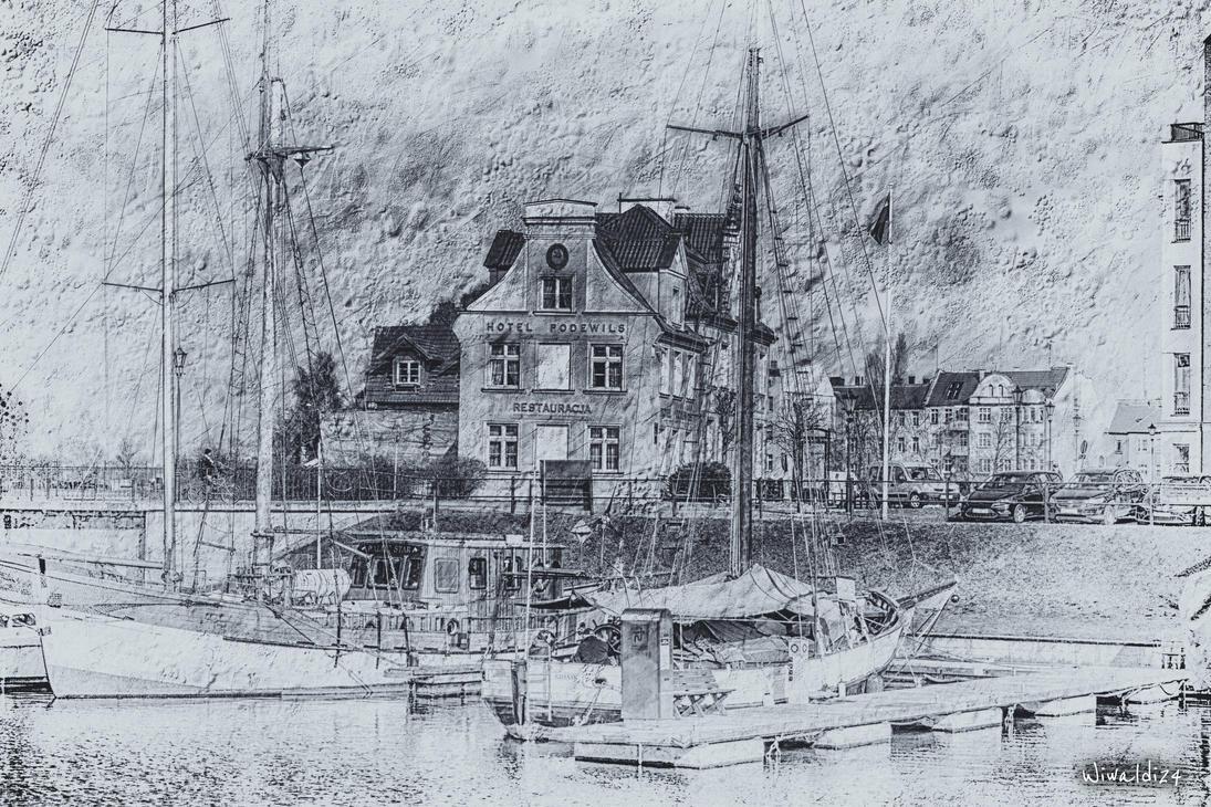 Gdansk black - white 1 by wiwaldi24