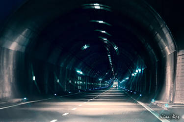 Tunnel under the Vistula River in Gdansk