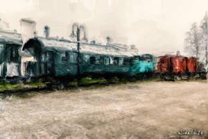 Old railway station by wiwaldi24
