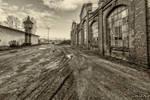 A muddy road...