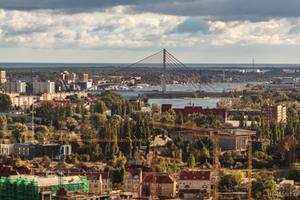 Baltic Sea, Vistula River and Gdansk by wiwaldi24