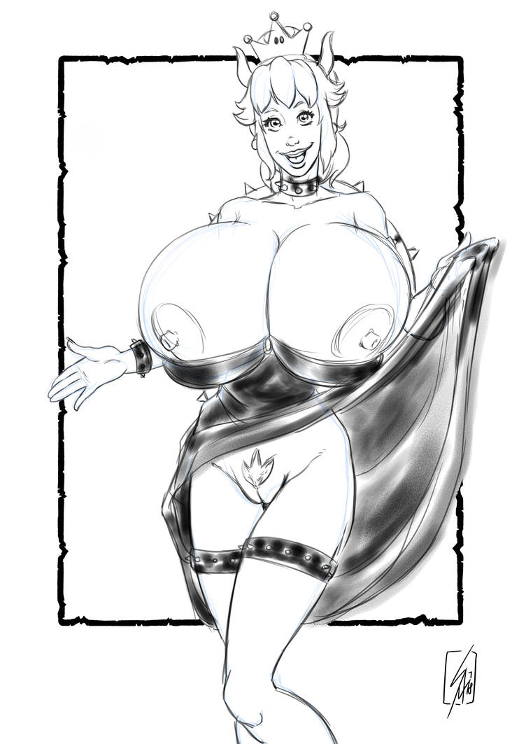 Bowsette sketch by sam7