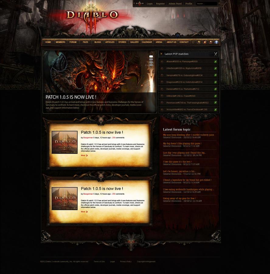 Diablo 3 webspell template by mazzery on DeviantArt