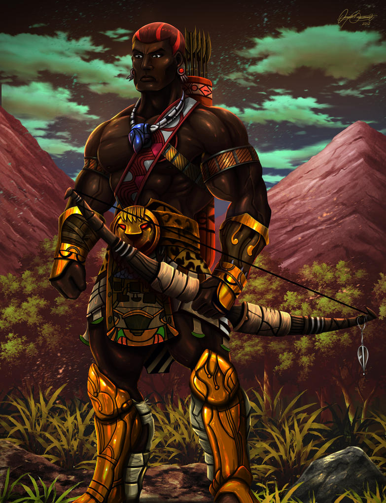 Sudanese fantasy warrior by pagolas on DeviantArt