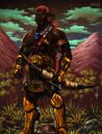 Sudanese fantasy warrior
