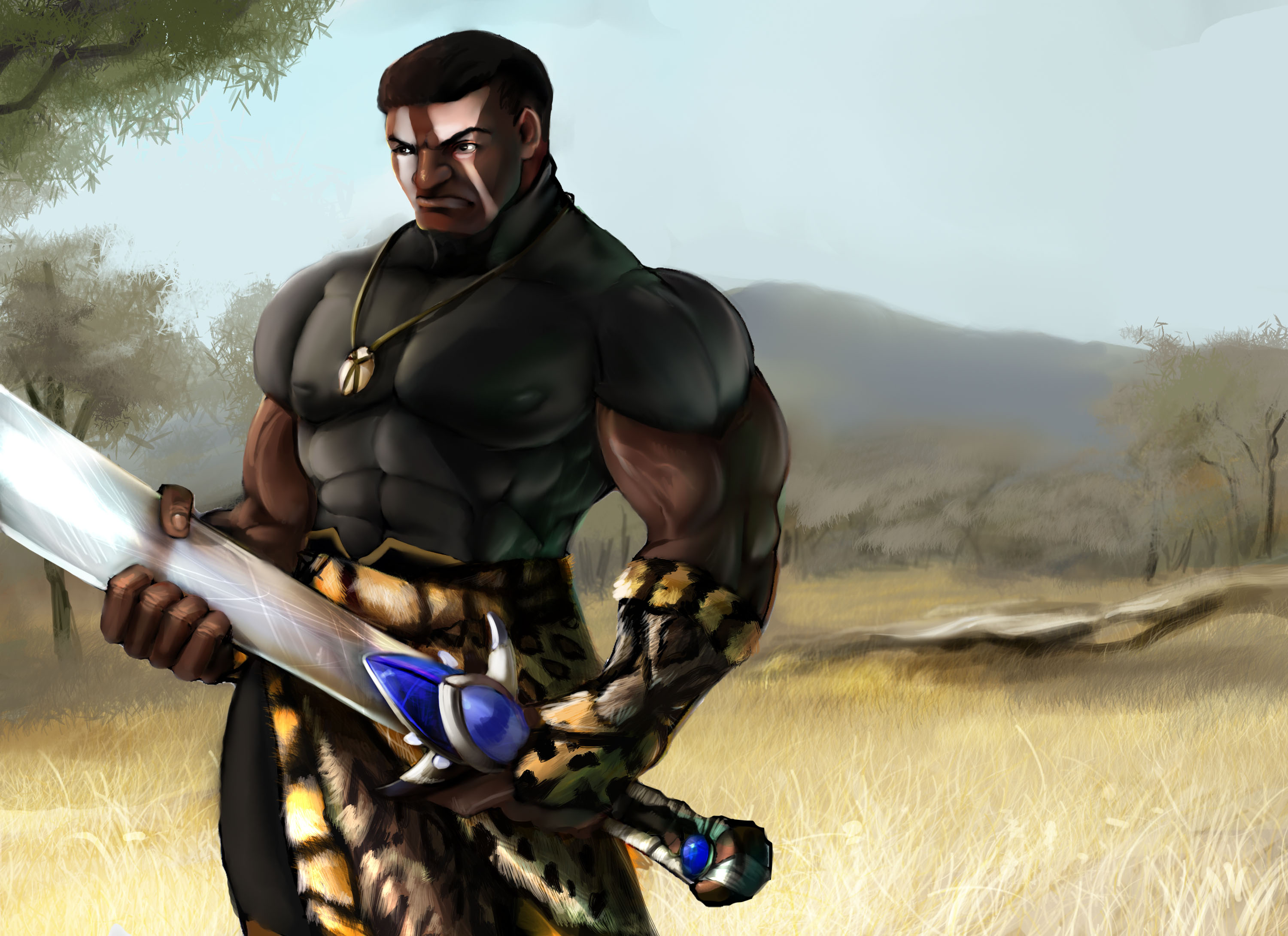 african warrior by pagolas