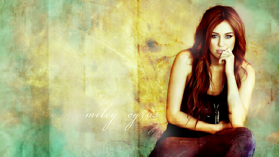 Miley Cyrus - Wallpaper by r-adiant
