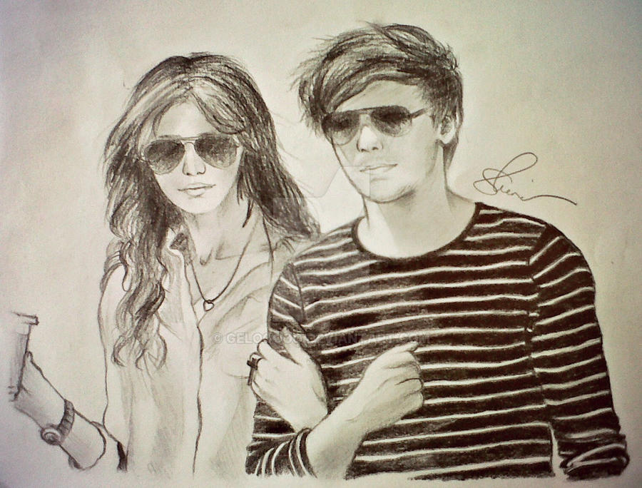 Louis Tomlinson and Eleanor Calder by geLooOoo