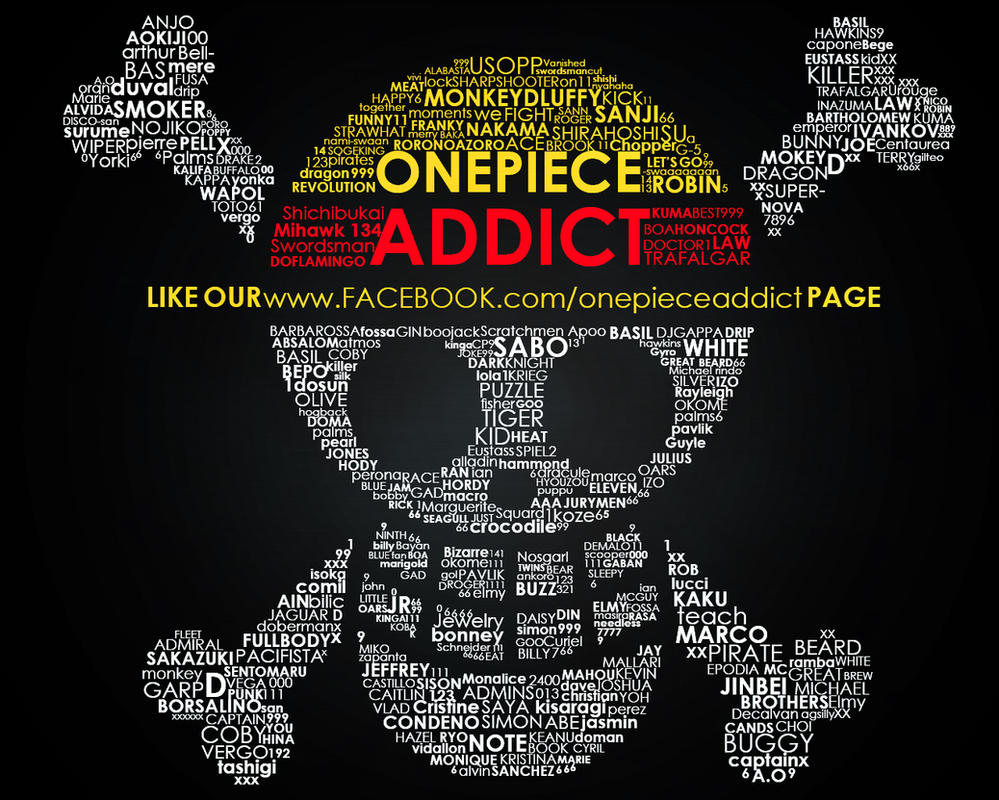 One Piece Addict Typography by kon1495