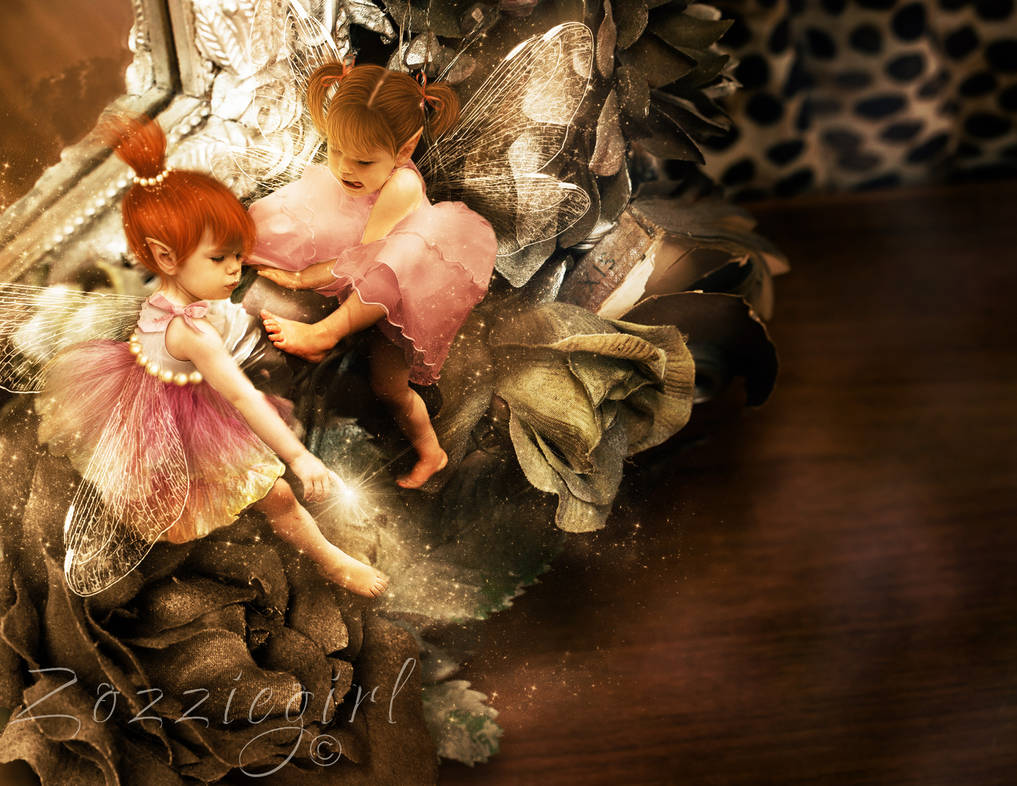 Naughty fairies come out to play. by Zozziegirl