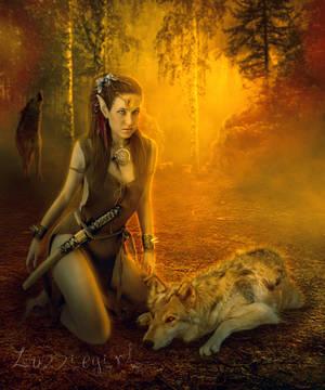 Elven warrior by Zozziegirl