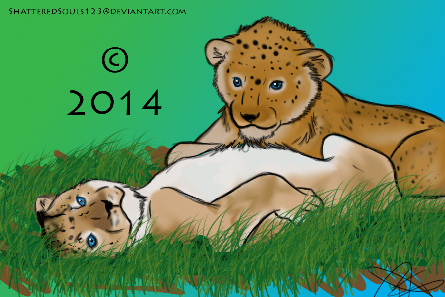 Lion Cubs by ShatteredSouls123