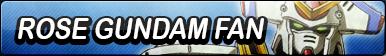 Rose Gundam Fan Button