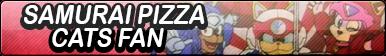 Samurai Pizza Cats Fan Button