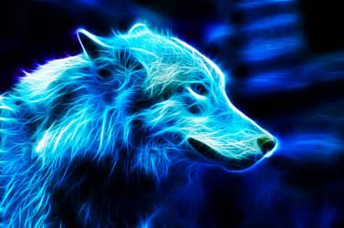 Blue Wolf by IkyuValiantValentine