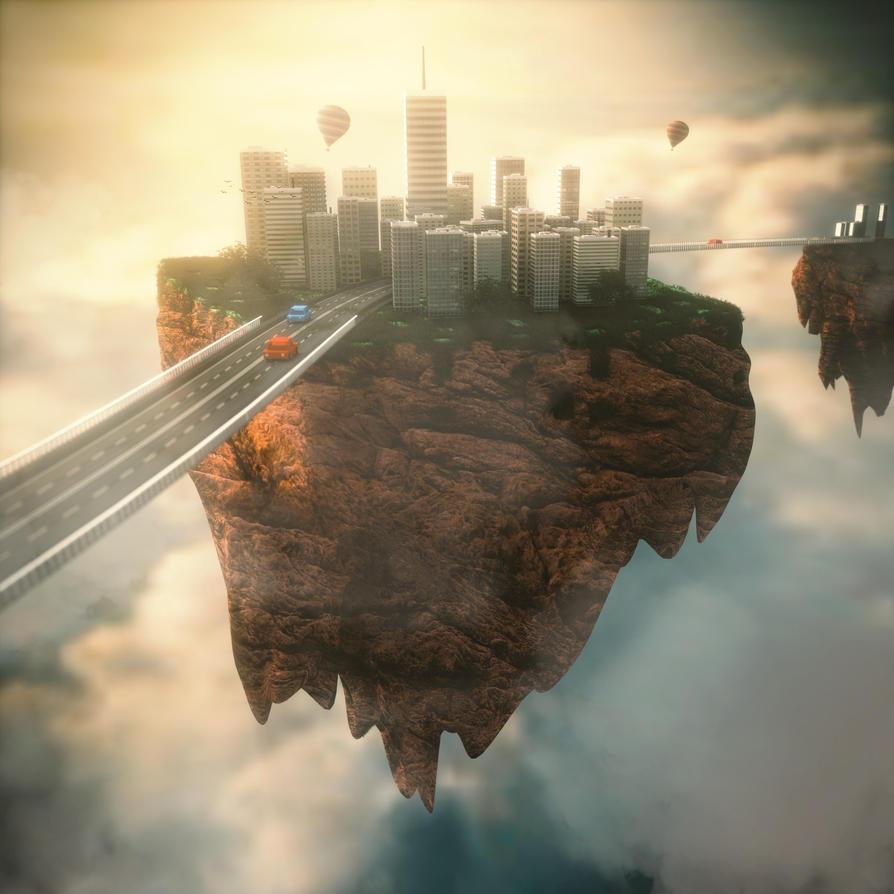 City in the sky by IkyuValiantValentine