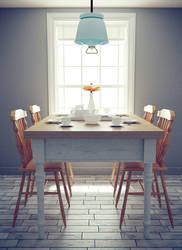 Dining room by IkyuValiantValentine