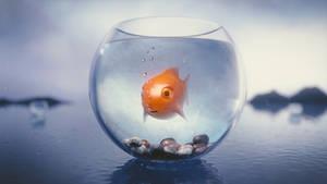 Fish in the bowl by IkyuValiantValentine