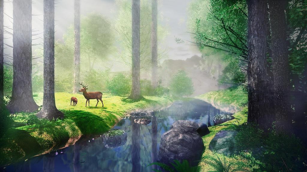 In the forest by IkyuValiantValentine