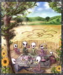Picnic in a Crop Circle