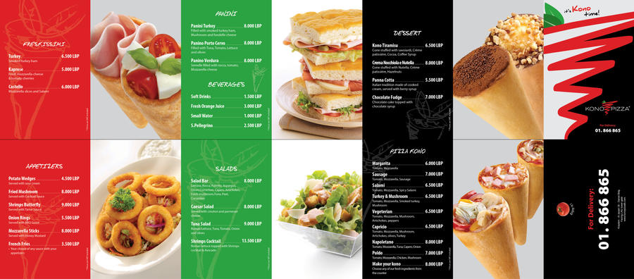 DeviantArt: More Like Kono Pizza Menu Layout by vx7