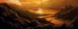 Matte Concept -Dramatic Sunset by RQuack