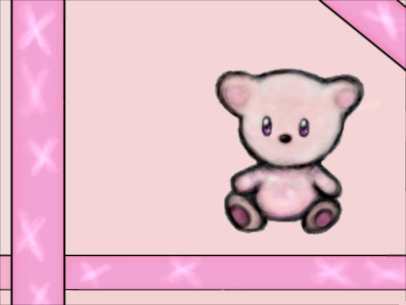 Pink Bear Wallpaper by Megamangeek on deviantART